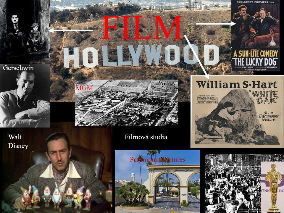 FILM Walt Disney Gerschwin Filmová studia MGM Paramount Pictures