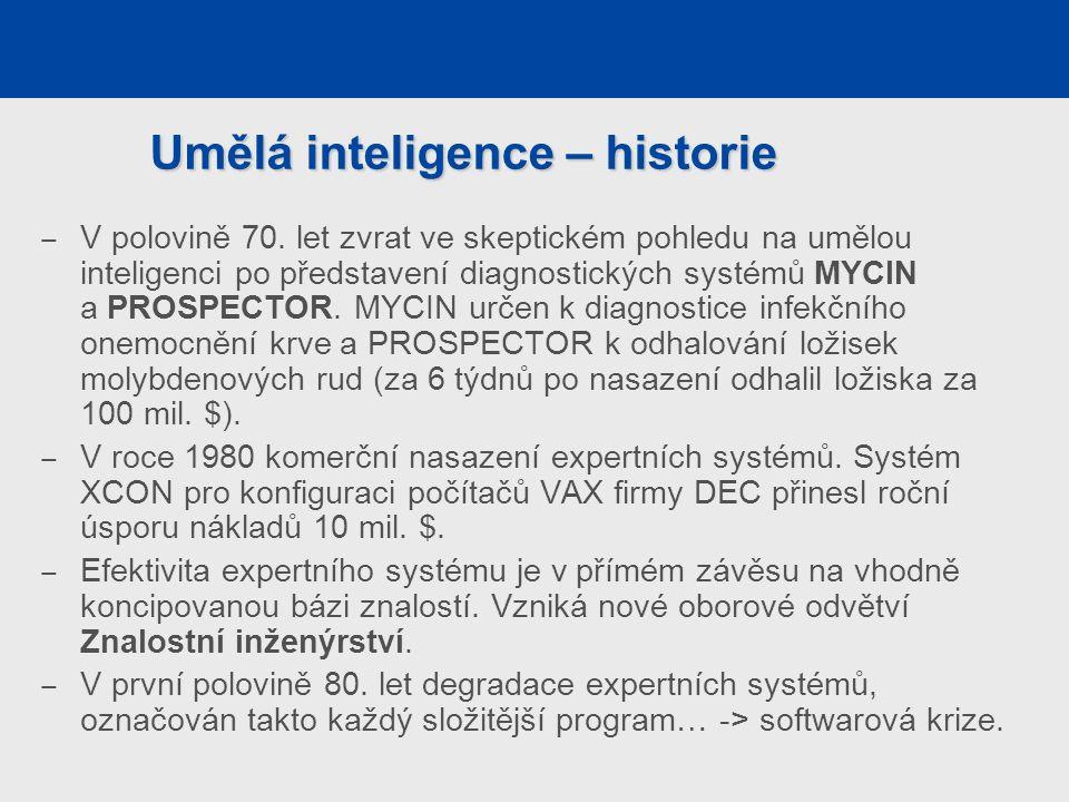 Umělá inteligence – historie ‒ V polovině 70.
