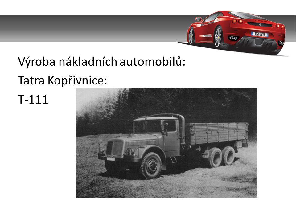 Výroba nákladních automobilů: Tatra Kopřivnice: T-111