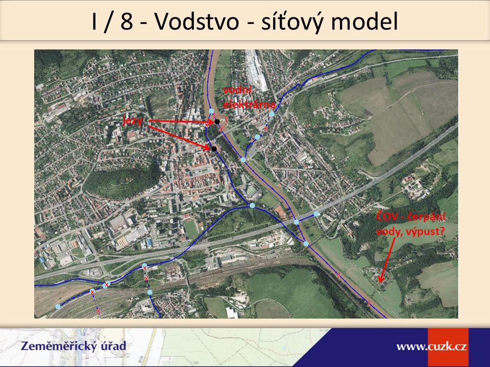 vodní elektrárna jezy ČOV - čerpání vody, výpust? I / 8 - Vodstvo - síťový model