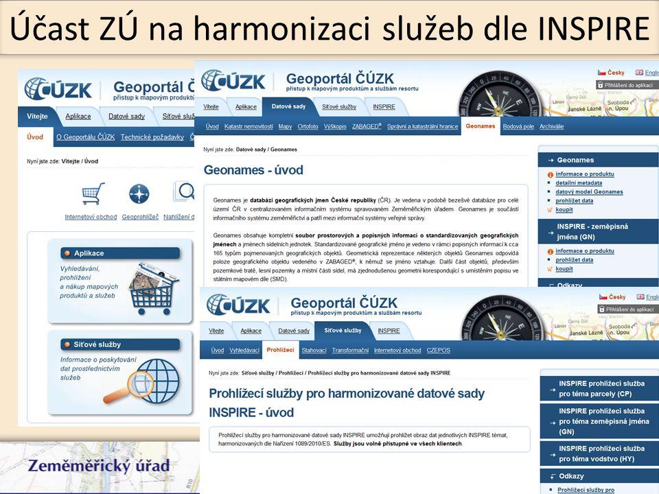 V Základní bázi geografických dat (ZABAGED®) jsou vedeny téměř všechny prvky zmiňované INSPIRE.