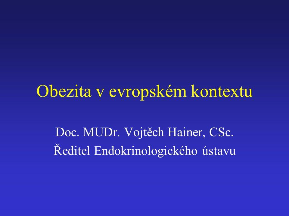 Obezita v evropském kontextu Doc. MUDr. Vojtěch Hainer, CSc. Ředitel Endokrinologického ústavu