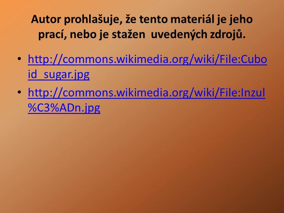 Autor prohlašuje, že tento materiál je jeho prací, nebo je stažen uvedených zdrojů.