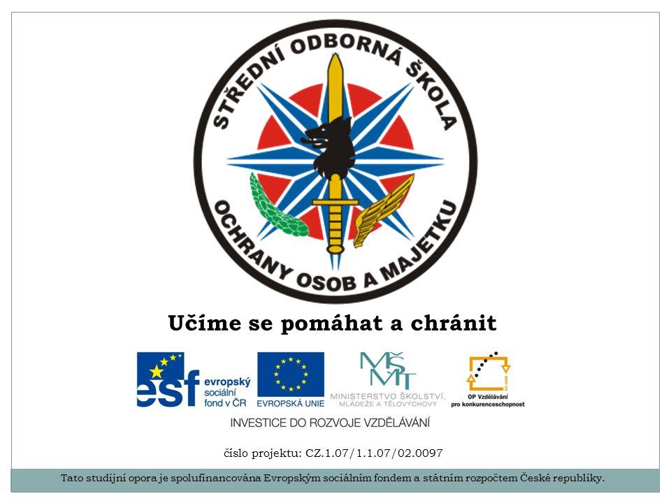 Tato studijní opora je spolufinancována Evropským sociálním fondem a státním rozpočtem České republiky.