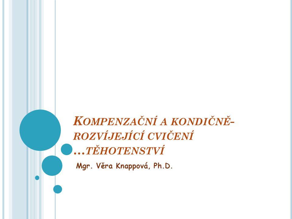 K OMPENZAČNÍ A KONDIČNĚ - ROZVÍJEJÍCÍ CVIČENÍ … TĚHOTENSTVÍ Mgr. Věra Knappová, Ph.D.