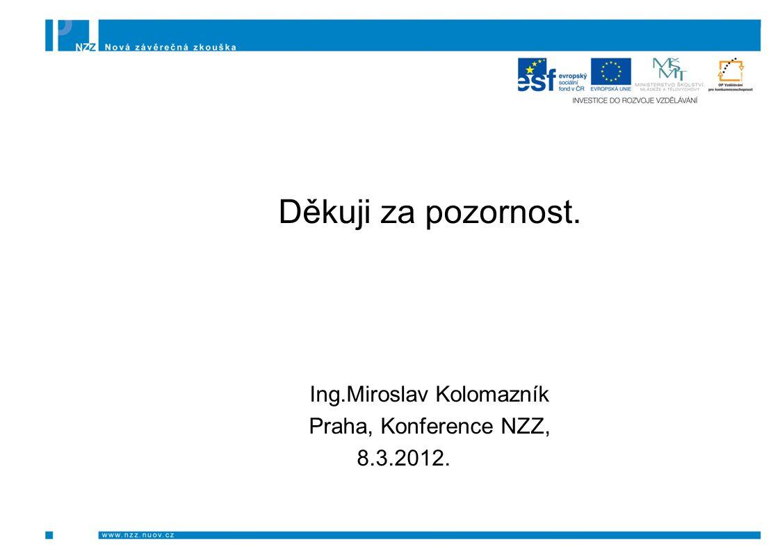 Děkuji za pozornost. Ing.Miroslav Kolomazník Praha, Konference NZZ, 8.3.2012.