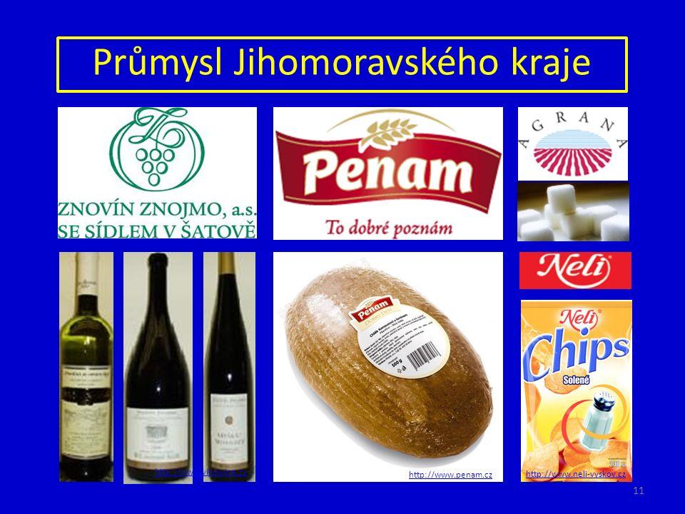 Průmysl Jihomoravského kraje http://www.vinowine.cz http://www.penam.cz http://www.neli-vyskov.cz 11