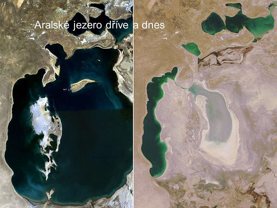 Aralské jezero dříve a dnes