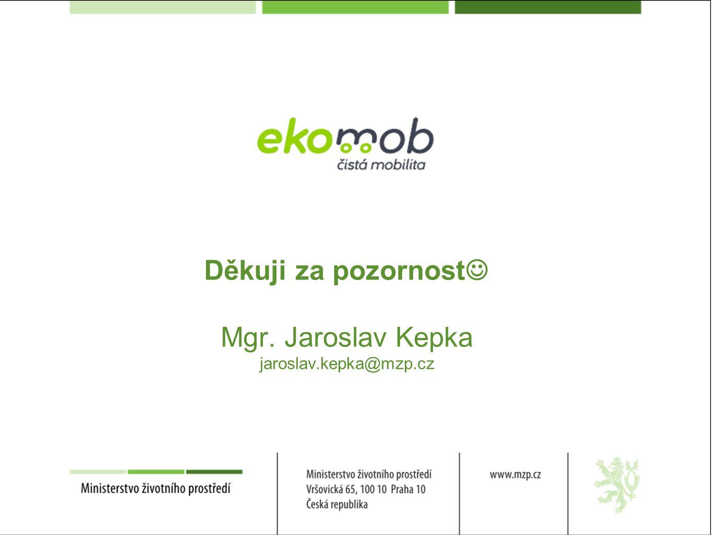 Děkuji za pozornost Mgr. Jaroslav Kepka jaroslav.kepka@mzp.cz