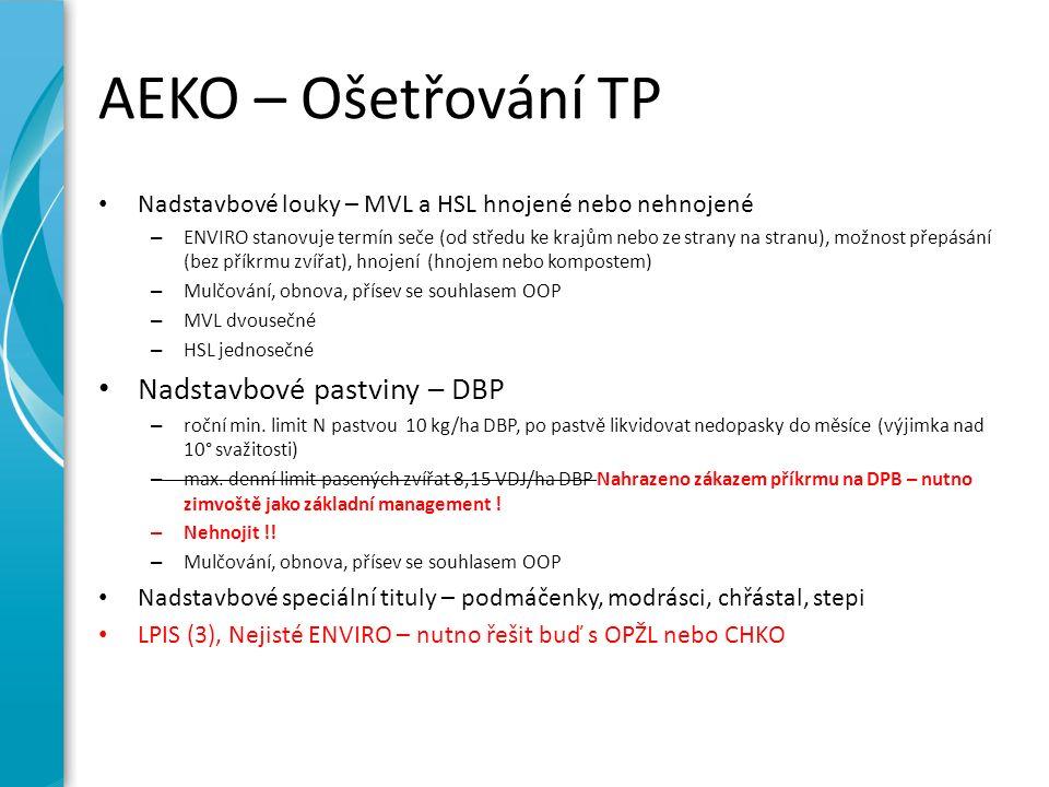 AEKO – Ošetřování TP Nadstavbové louky – MVL a HSL hnojené nebo nehnojené – ENVIRO stanovuje termín seče (od středu ke krajům nebo ze strany na stranu