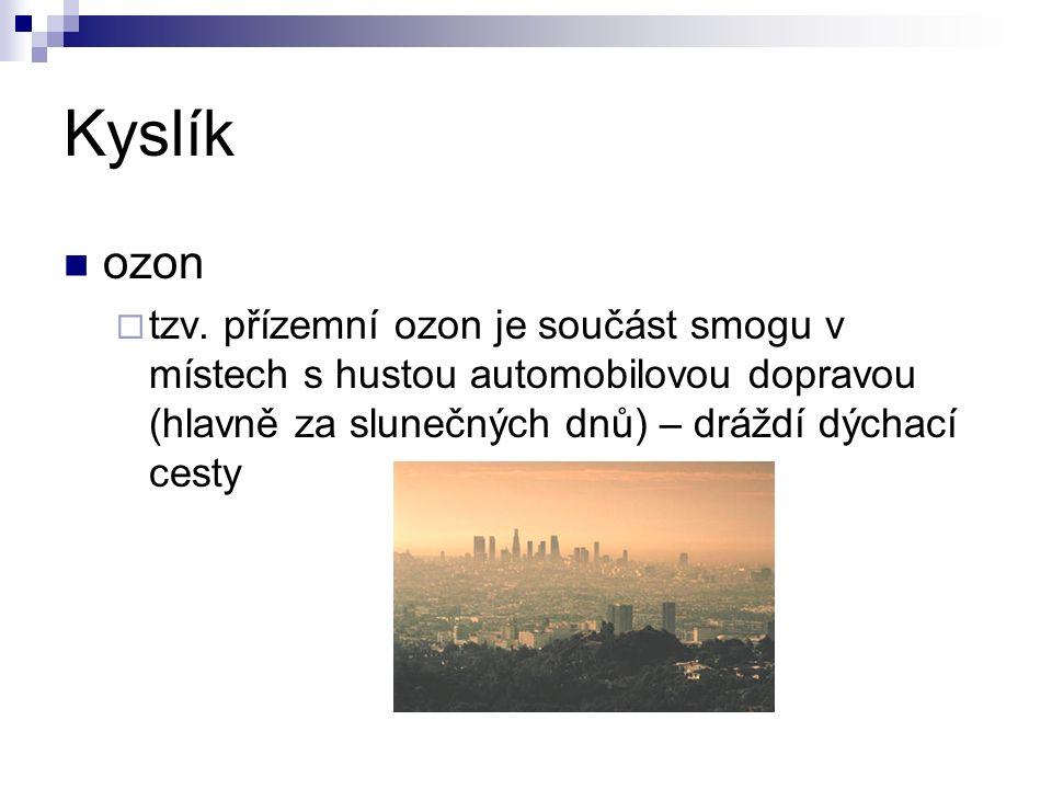 Kyslík ozon  tzv.