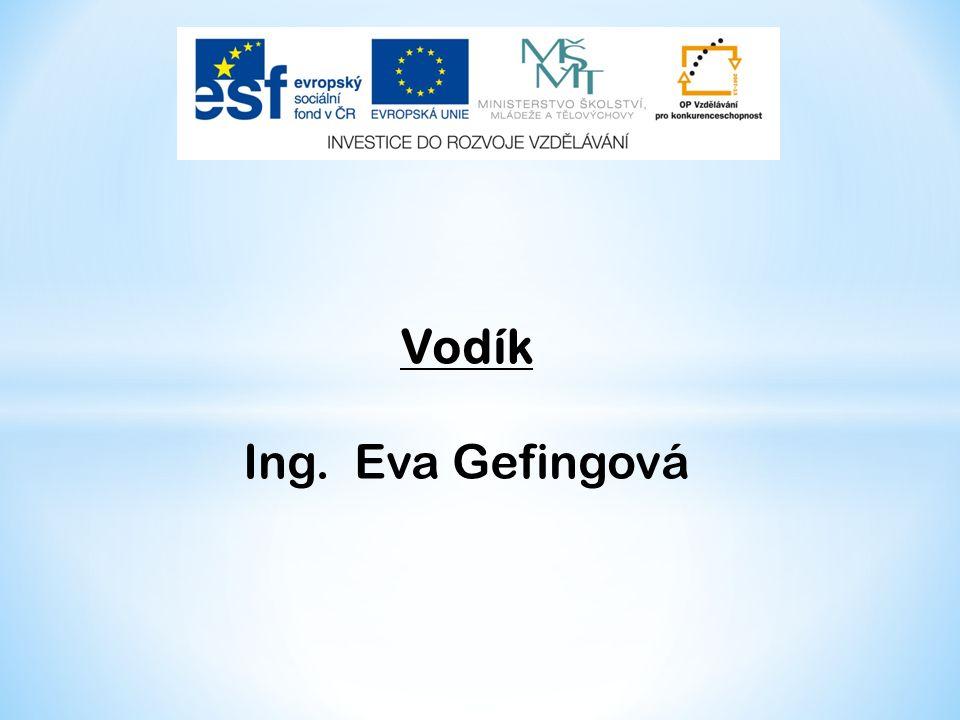 Vodík Ing. Eva Gefingová
