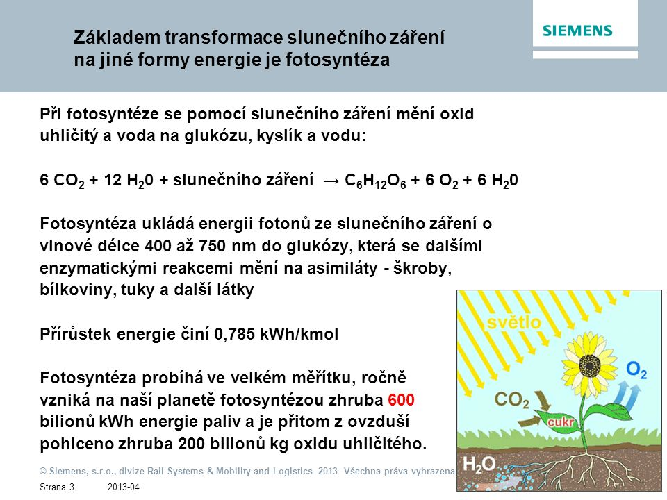 2013-04 © Siemens, s.r.o., divize Rail Systems & Mobility and Logistics 2013 Všechna práva vyhrazena. Strana 3Ing. Jiří Pohl / IC RL EN Základem trans