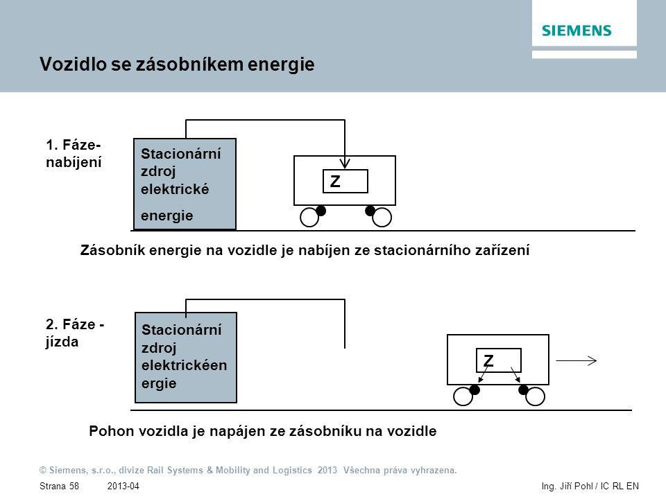 2013-04 © Siemens, s.r.o., divize Rail Systems & Mobility and Logistics 2013 Všechna práva vyhrazena. Strana 58Ing. Jiří Pohl / IC RL EN Vozidlo se zá