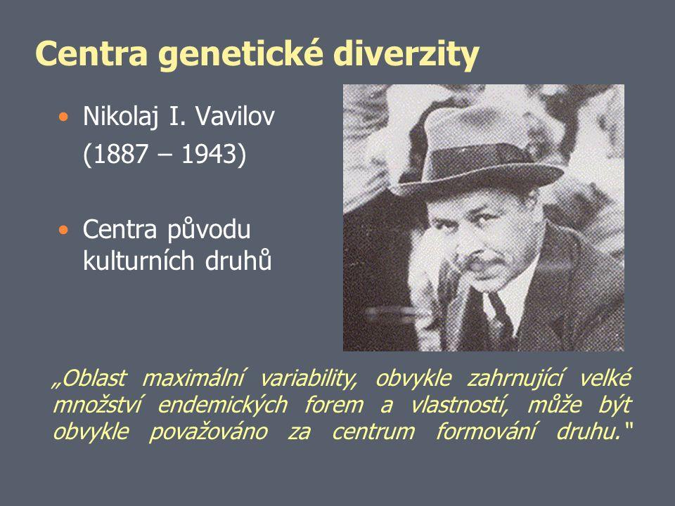Centra genetické diverzity Nikolaj I.
