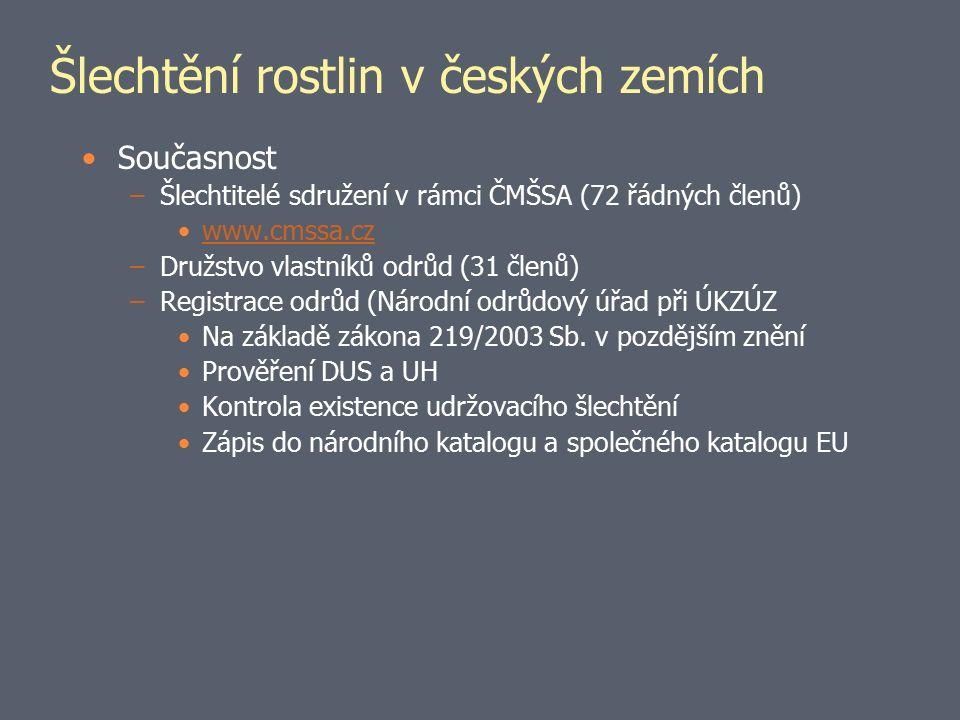 Národní program konzervace g.z.Ze zákona 148/2003 Sb.