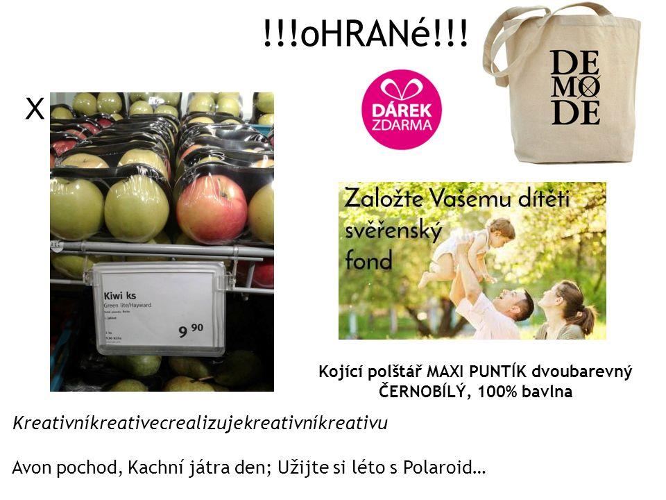 !!!oHRANé!!! X Kojící polštář MAXI PUNTÍK dvoubarevný ČERNOBÍLÝ, 100% bavlna Kreativníkreativecrealizujekreativníkreativu Avon pochod, Kachní játra de