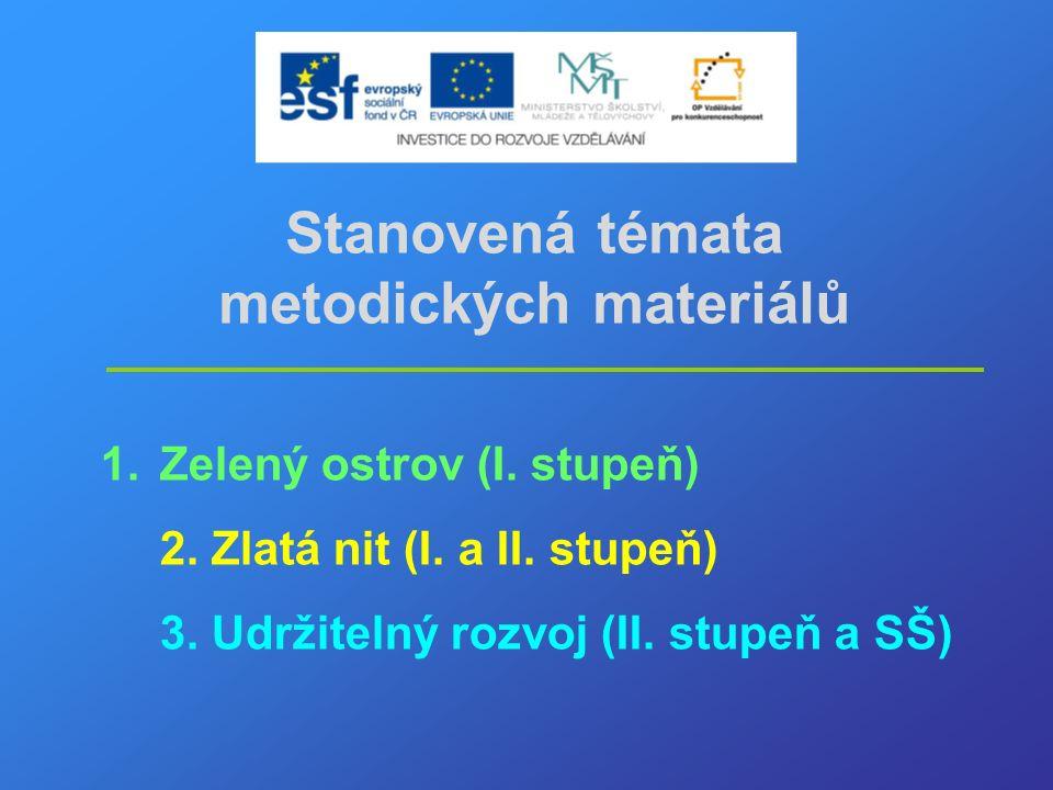Stanovená témata metodických materiálů 1.Zelený ostrov (I.