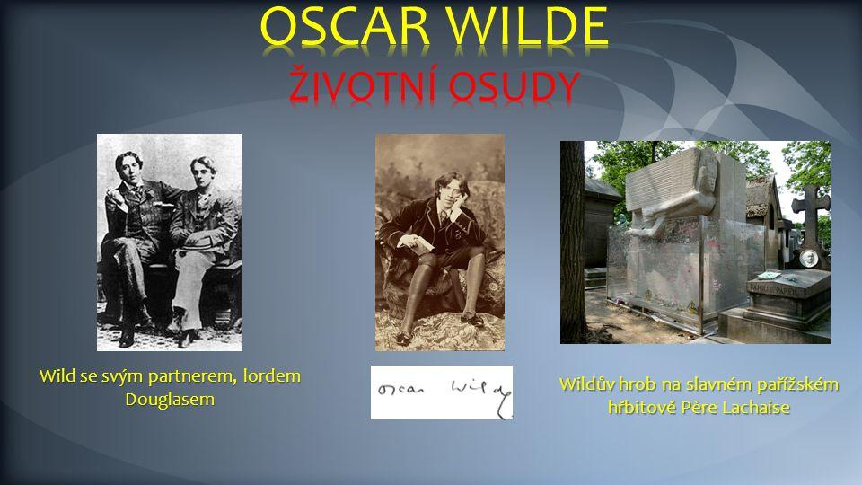Wildův hrob na slavném pařížském hřbitově Père Lachaise Wild se svým partnerem, lordem Douglasem