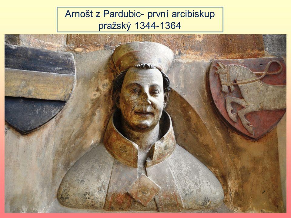 Po návratu obnovil rozebraný královský majetek 1344- Praha arcibiskupská metropole, první arcibiskup Arnošt z Pardubic, celoživotní Karlův rádce Založ