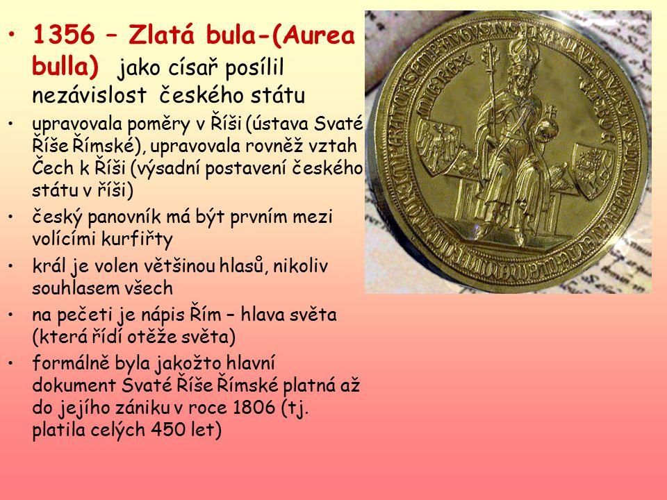1346 zvolen římským králem 1347 korunován českým králem 1355- korunován v Římě císařem