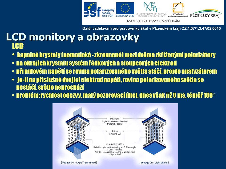 SONY – 2007 – technologie SXRD (Silicon X-tal Reflective Display) s extrémně vysokým rozlišením 4K (4 096 × 2 160 pixelů), jde o reflexní displej z křemíkových krystalů, použití v kinech Další vzdělávání pro pracovníky škol v Plzeňském kraji CZ.1.07/1.3.47/02.0010
