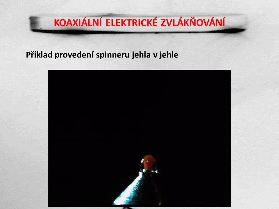 KOAXIÁLNÍ ELEKTRICKÉ ZVLÁKŇOVÁNÍ Příklad provedení spinneru jehla v jehle