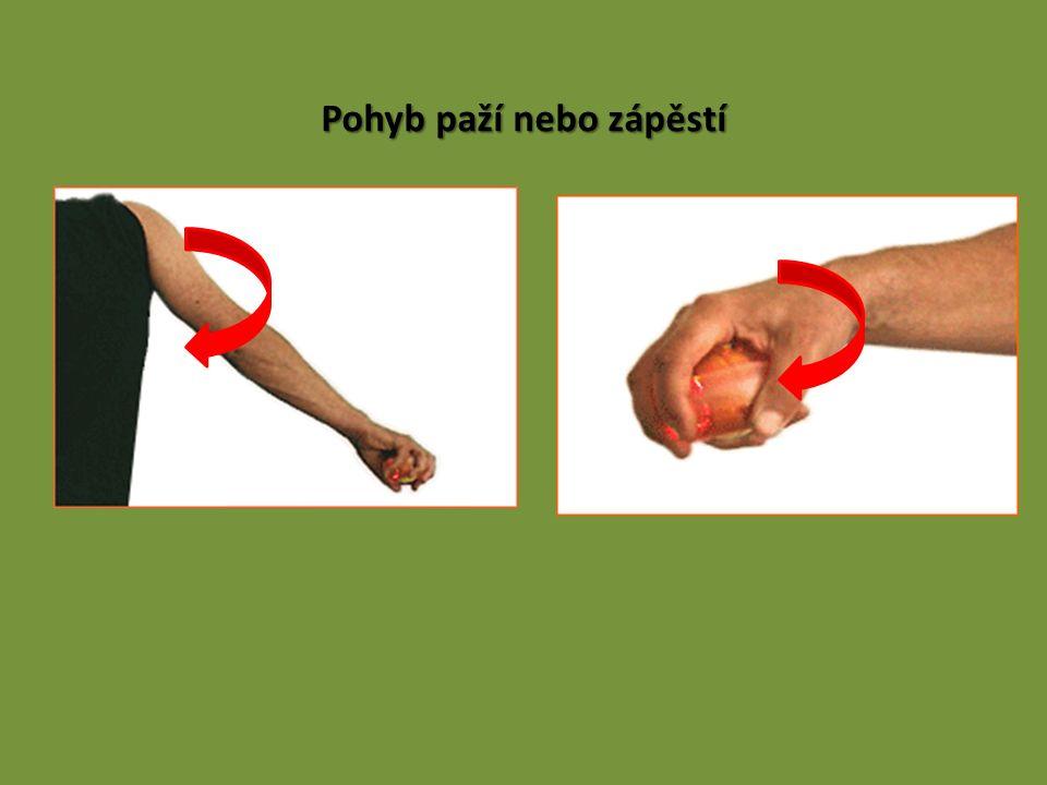 Pohyb paží nebo zápěstí