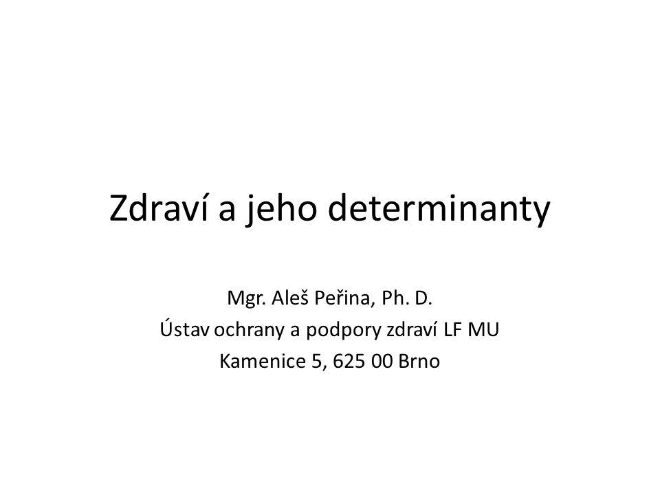Zdraví a jeho determinanty Mgr. Aleš Peřina, Ph. D. Ústav ochrany a podpory zdraví LF MU Kamenice 5, 625 00 Brno