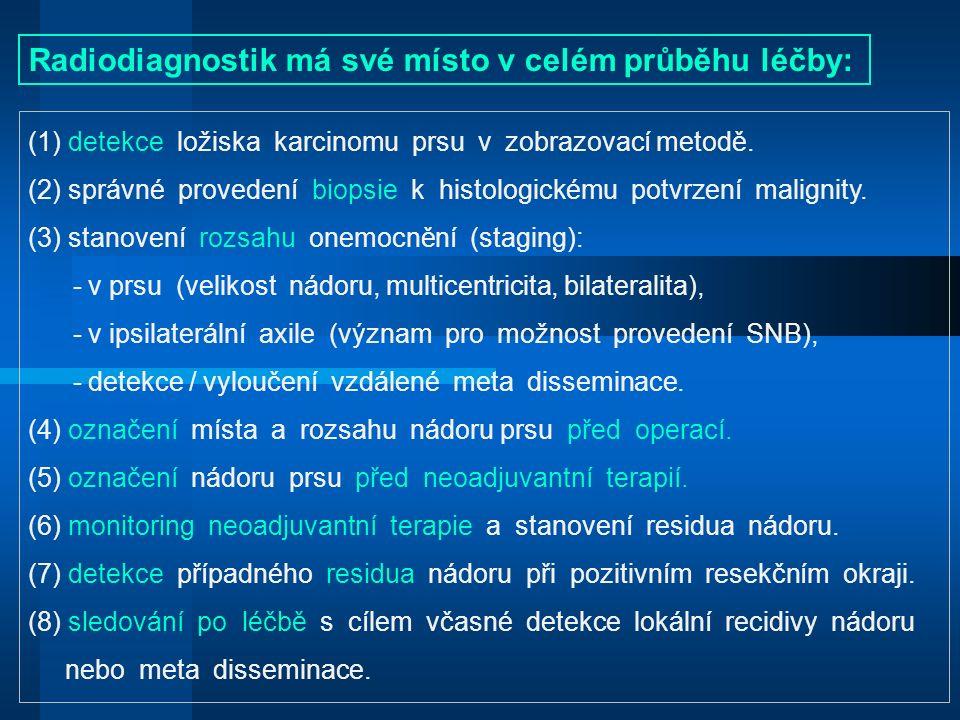 (1) detekce ložiska karcinomu prsu v zobrazovací metodě.