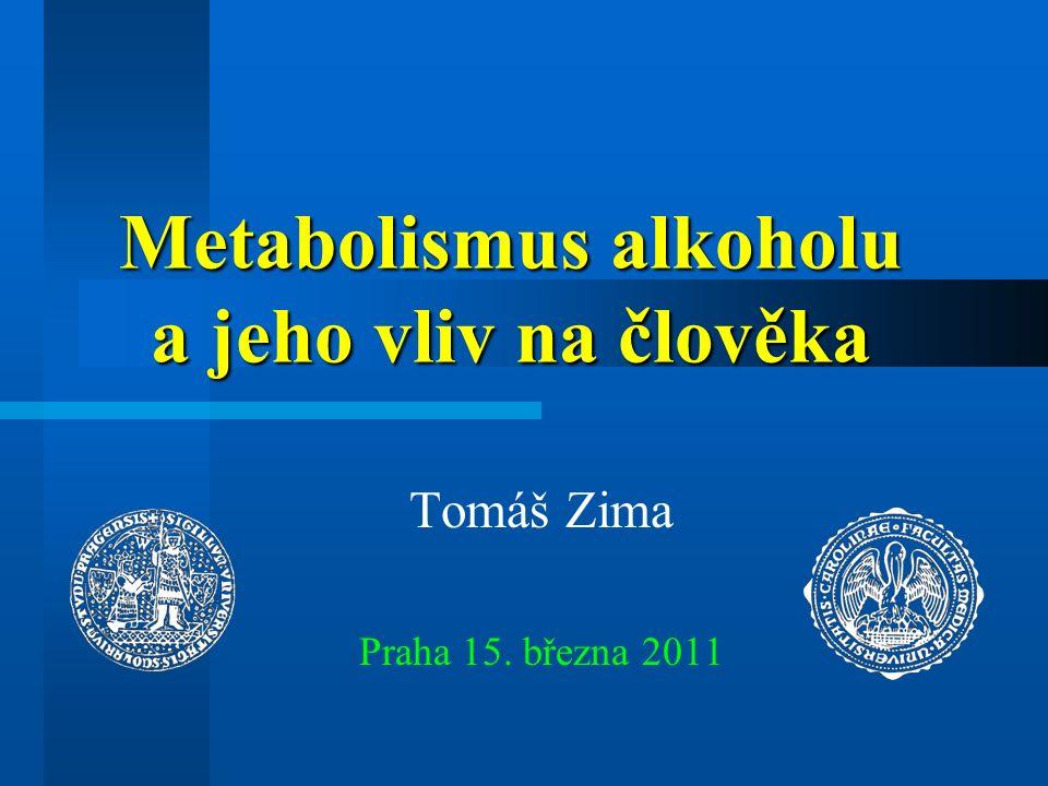 Závislost množství etanolu a kardiovaskulárního rizika 10 20 30 40 50 60 70 80 90 100 g EtOH/d Kardiovaskulární riziko 1.0