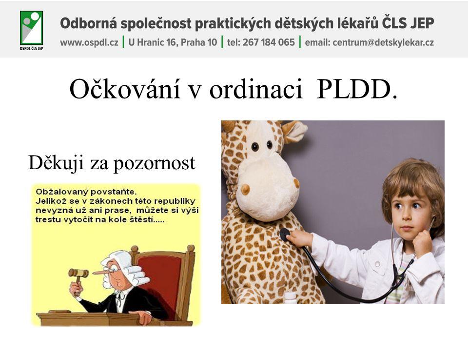 Očkování v ordinaci PLDD. Děkuji za pozornost