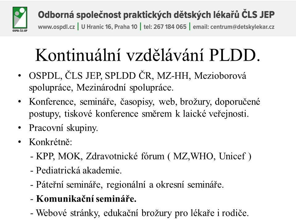 Kontinuální vzdělávání PLDD.