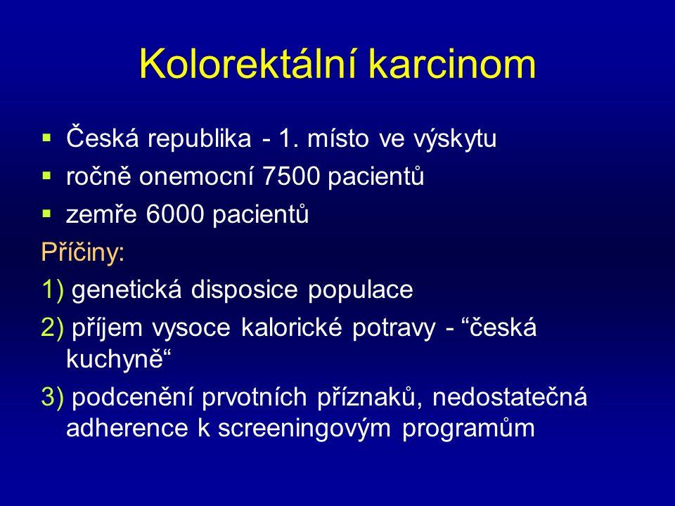 Kolorektální karcinom  Česká republika - 1.
