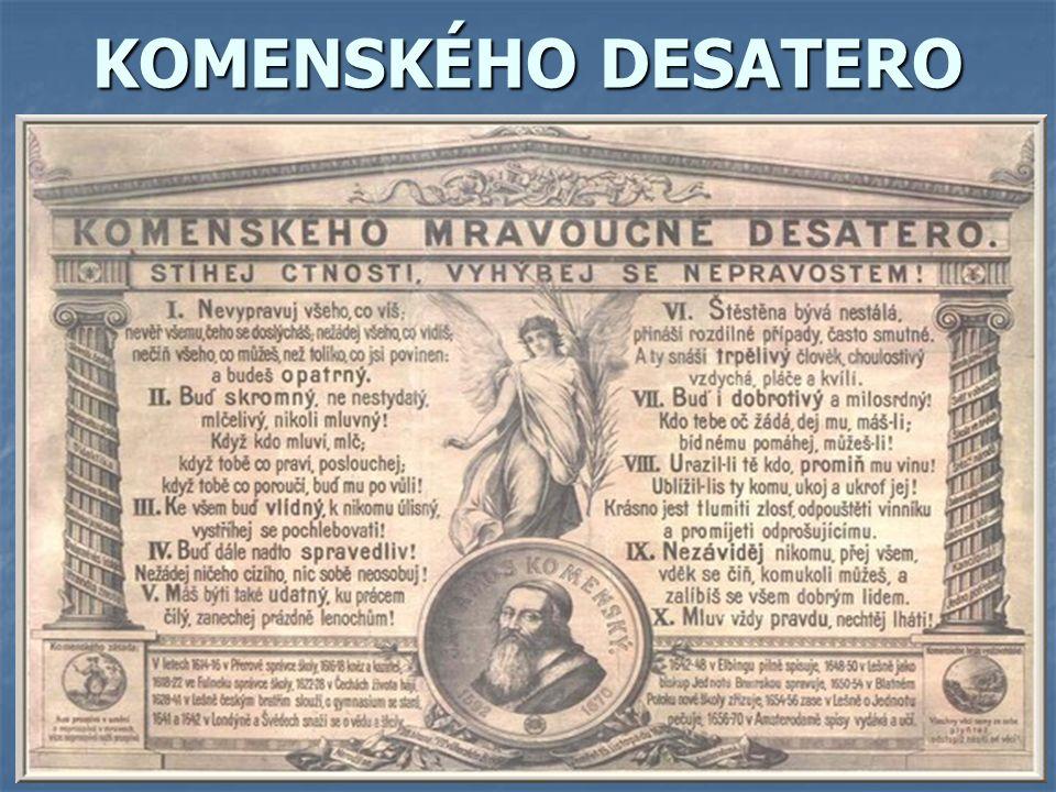 KOMENSKÉHO DESATERO
