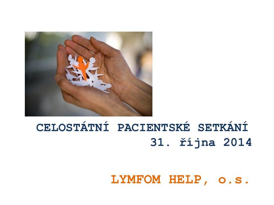 CELOSTÁTNÍ PACIENTSKÉ SETKÁNÍ 31. října 2014 LYMFOM HELP, o.s.