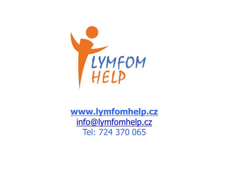 www.lymfomhelp.cz info@lymfomhelp.cz Tel: 724 370 065