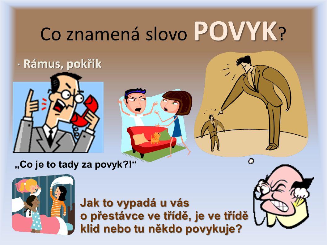 POVYK Co znamená slovo POVYK .