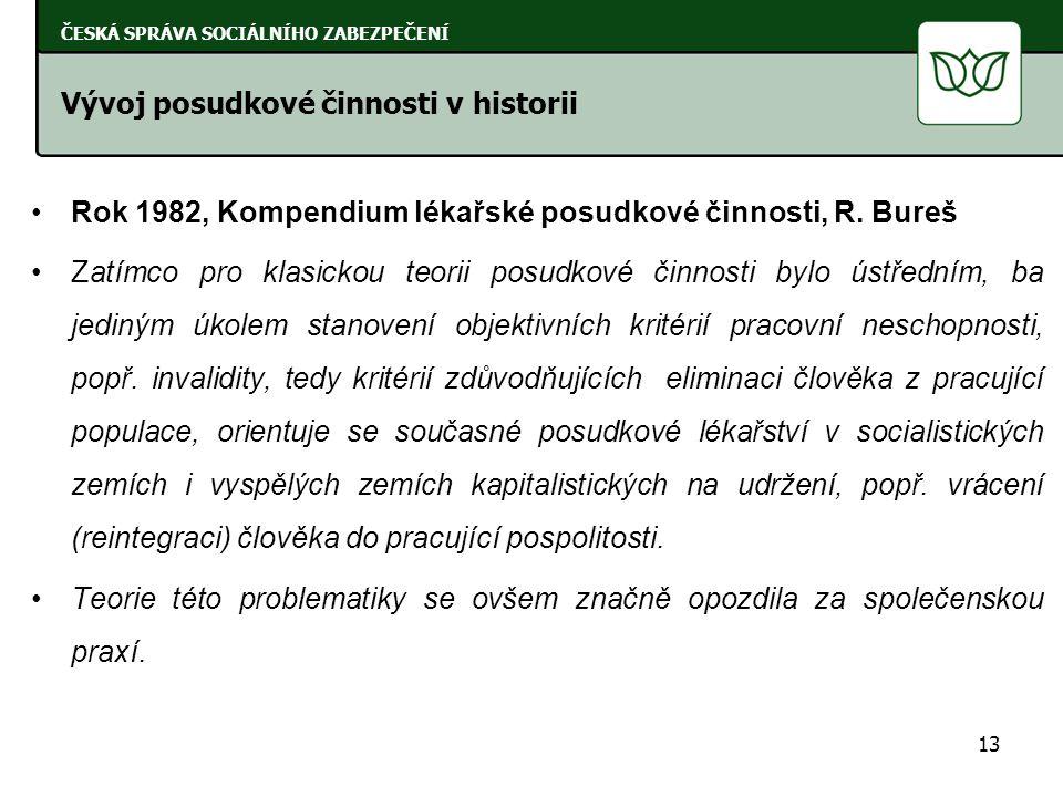 Rok 1982, Kompendium lékařské posudkové činnosti, R.