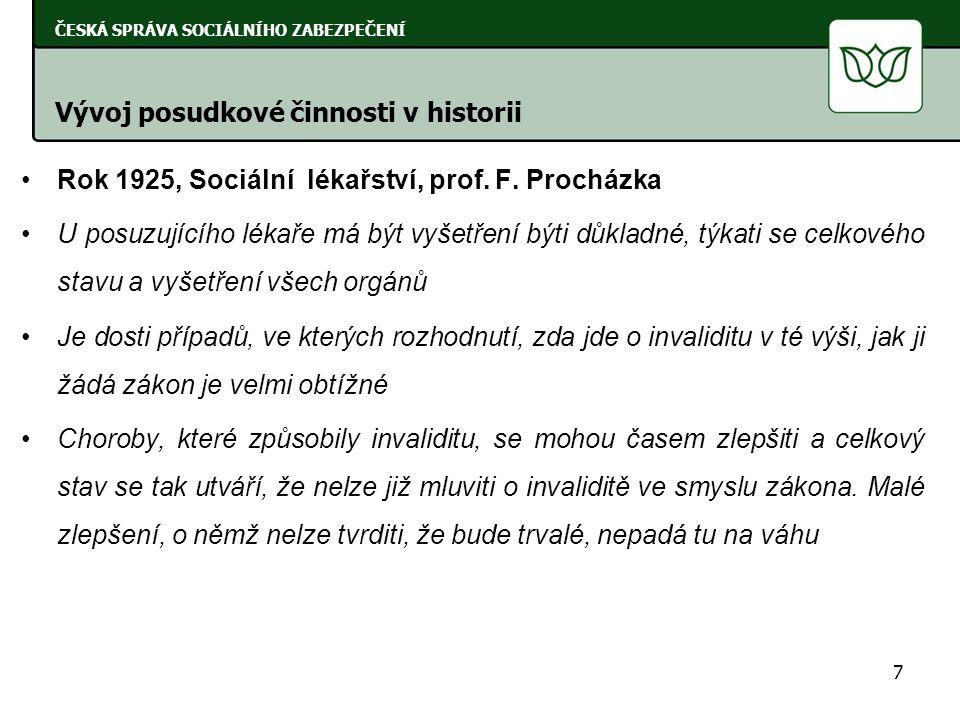Rok 1939, Posudková služba lékařská (zvláště v nemocenském pojištění dělnictva), J.