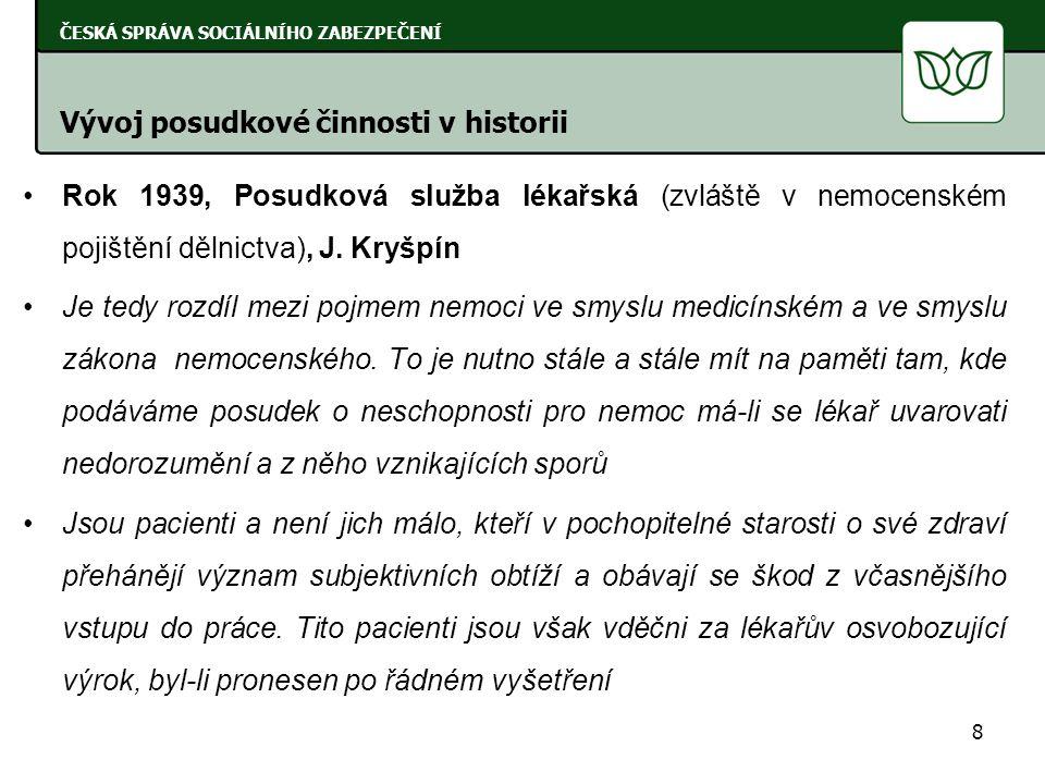 Rok 1954, Základy práce posudkových lékařů, J.