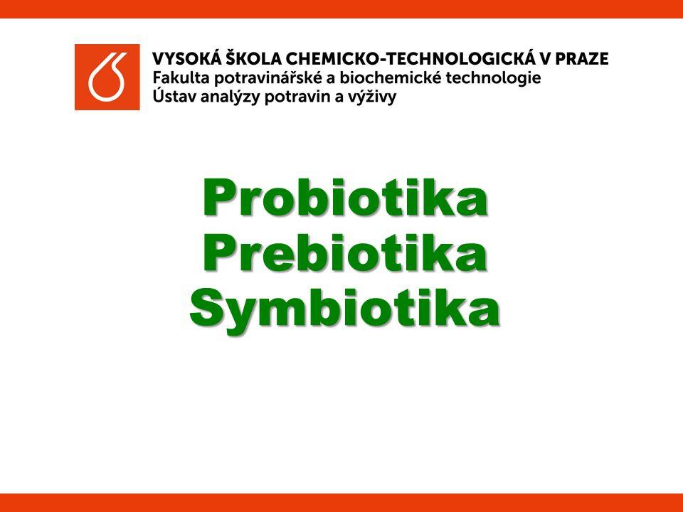 62 Synbiotika  Obsahují jak probiotika, tak prebiotika  Přidávají se do jednoho produktu (zvláště do mléčných výrobků)  Bakterie má k dispozici substrát, který selektivně fermentuje v tlustém střevu  Synergistický zdravotní přínos