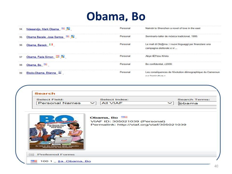 Obama, Bo 40
