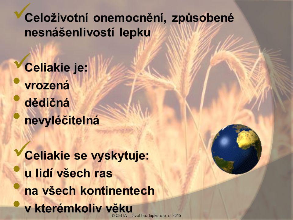 Lepek je bílkovinná složka na povrchu zrn: pšenice ječmene žita ovsa © CELIA – život bez lepku o.p.