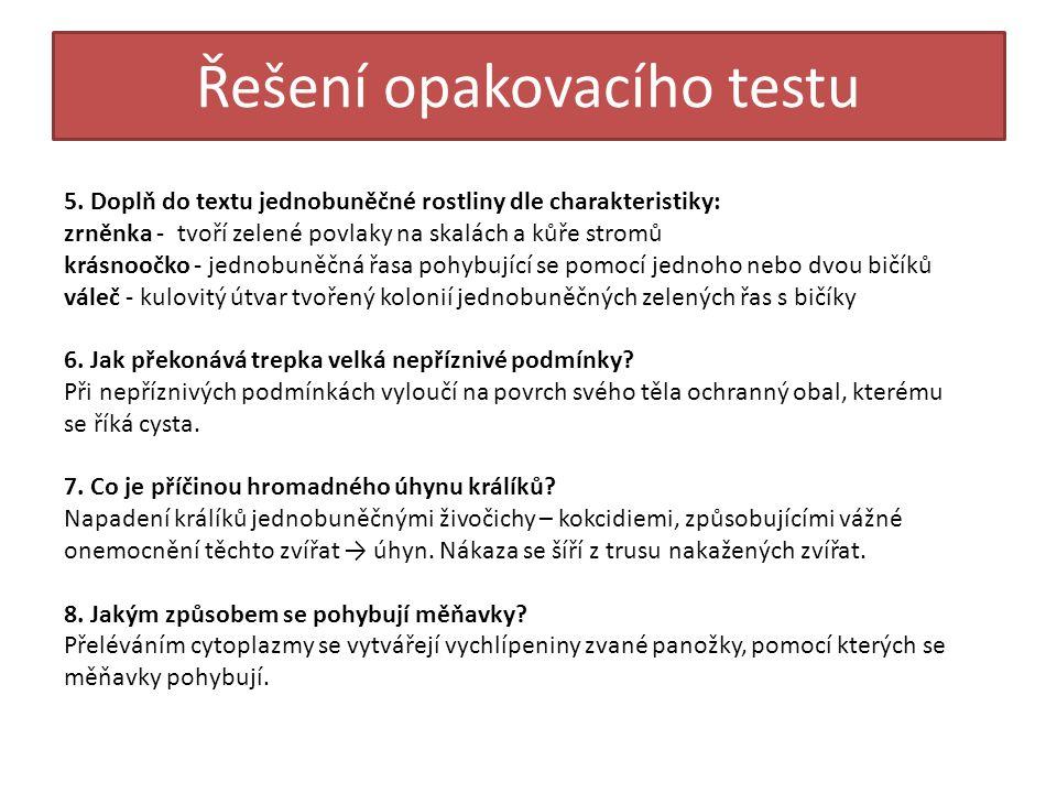 Řešení opakovacího testu 5.