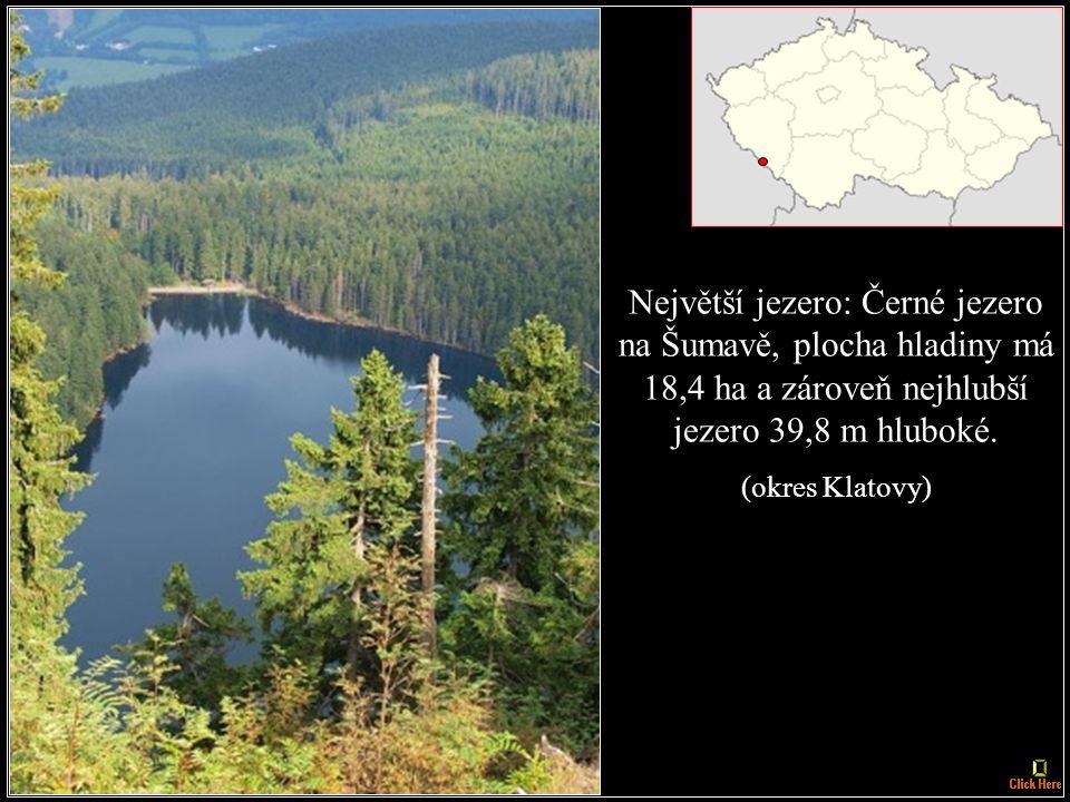 Nejníže ležící obec: Hřensko, 130 m n. m. (okres Děčín)