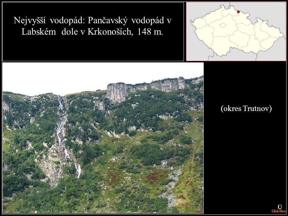 Nejdelší sypaná přehradní hráz: Nechranice na řece Ohři - 3286 m. (okres Chomutov)