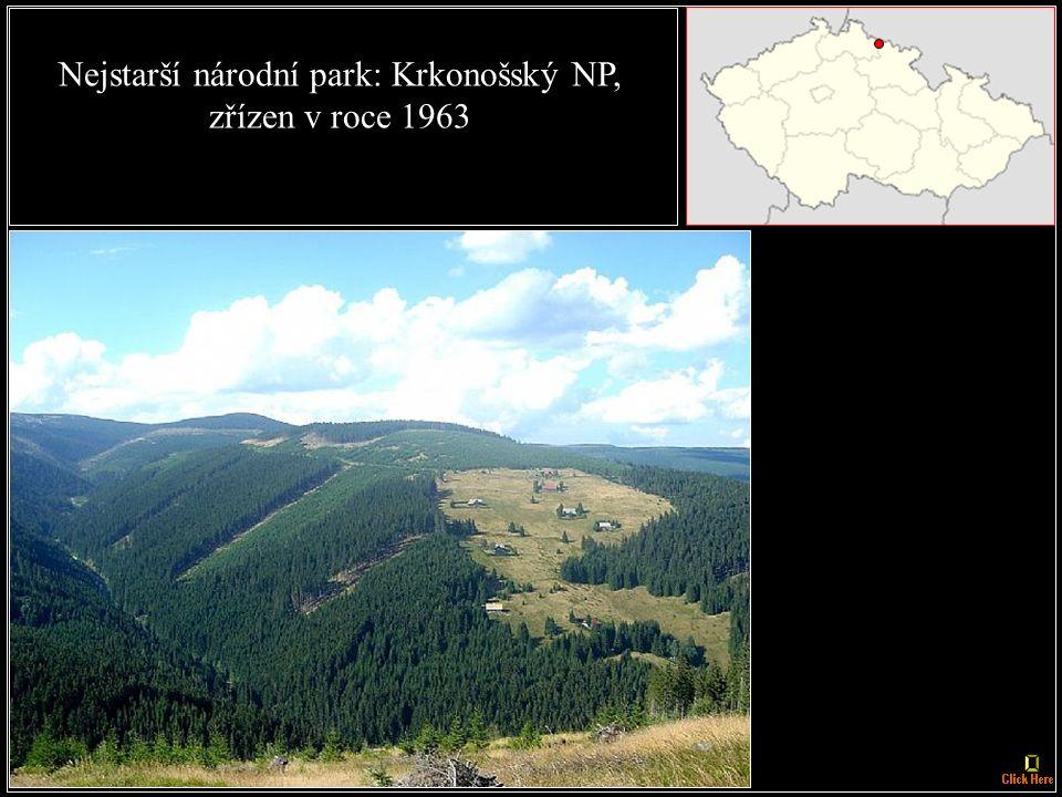 Největší národní park: NP Šumava, 1630 km²