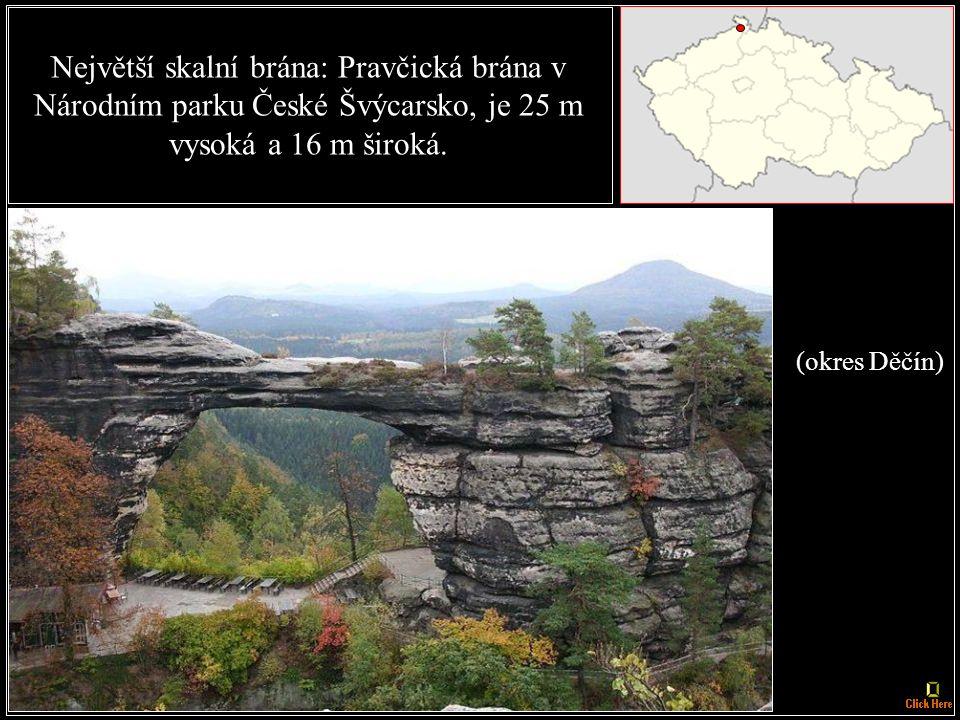 Nejstarší chráněná krajinná oblast: CHKO Český ráj, zřízena v roce 1955