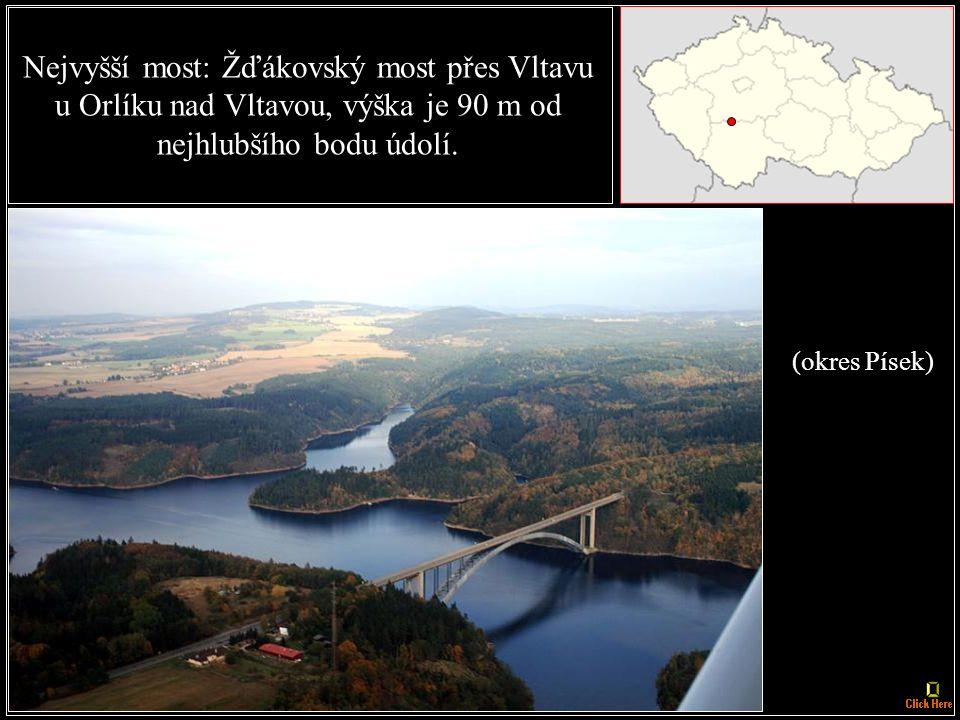 (okres Praha východ) Nejdelší most: Radotínský most - 2280 m.